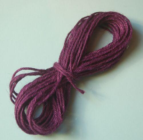 10m Hanffaden 2mmn Hanfschnur Hanfkordel Hemp Cord gefärbt rot blau lila 0,16€//m