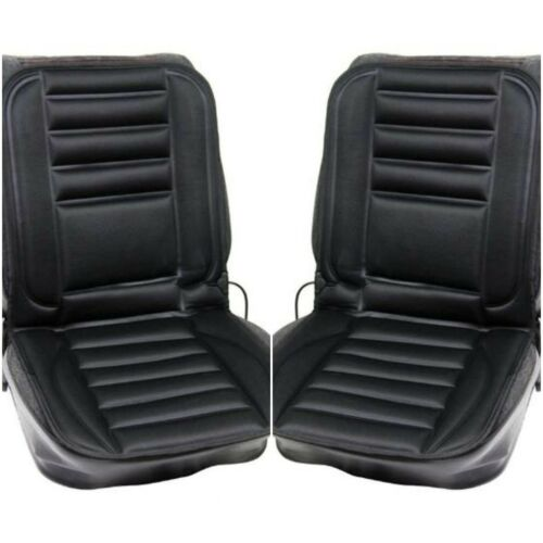 Pair of Car Interior 12v Padded Heated Front Seat Cover Cushion with Thermostat