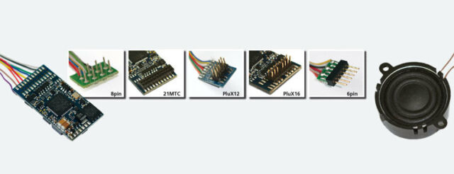 ESU 64616 LokPilot V4.0 M4, Multiprotokoll MM/DCC/SX/M4, PluX12 am Kabelbaum