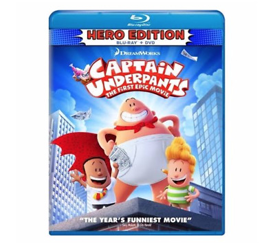 Captain Underpants The First Epic Movie Hero Edition Blu Ray Dvd Brand New 24543393481 Ebay