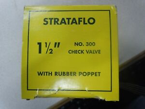 "Strataflo Brass 2-1//2/"" FNPT x FNPT No 300 Check Valve With Rubber Poppet"