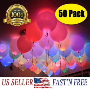 50-150-Pack-LED-Balloons-Light-Up-Balloons-Wedding-Decoration-Birthday-PARTY-US
