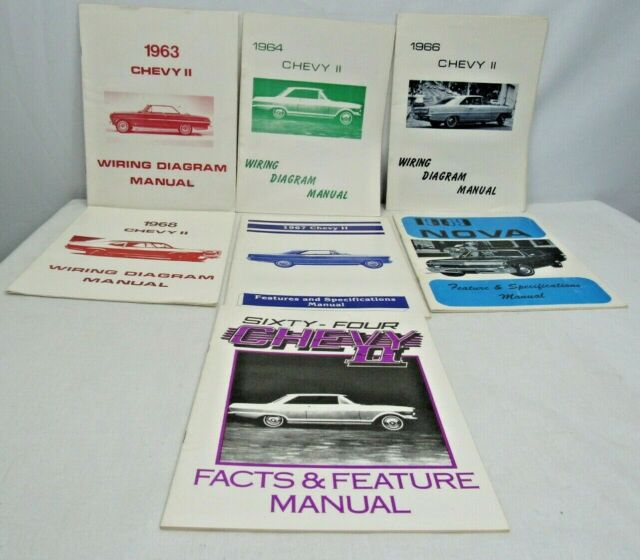 Lot Of 8 Chevy Ii Nova Wiring Diagrams Facts Manual 1963