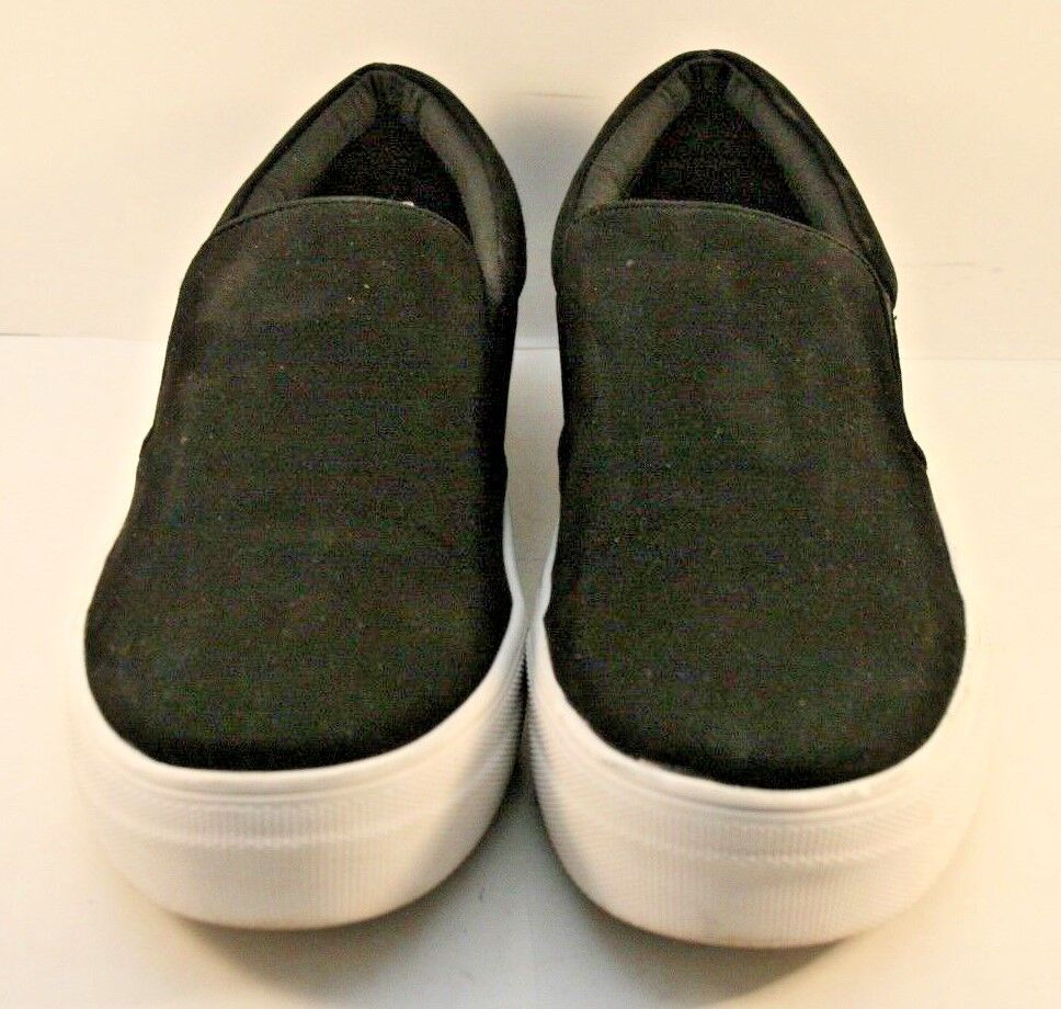 Steve Madden Black Suede Gills Slip On Fashion Sneakers Womens Size US 8M