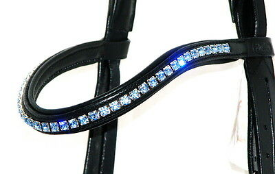 FSS 6mm Crystal LIGHT SAPPHIRE BLUE Bling Browband MADE WITH SWAROVSKI ELEMENTS