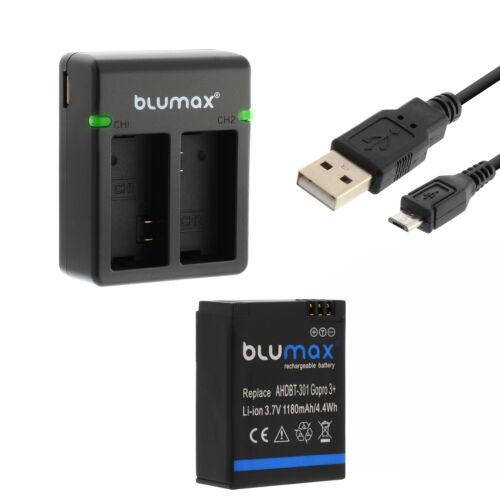 Bateria para GoPro Hero 3+//Hero 3 dual cargador Charger6520391000
