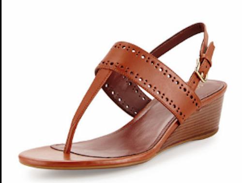 COLE HAAN HAAN HAAN Elsie Ankle Strap Thong Wedge SANDALS 9.5 9  2 M bilamel bspringaaa NEW  skön