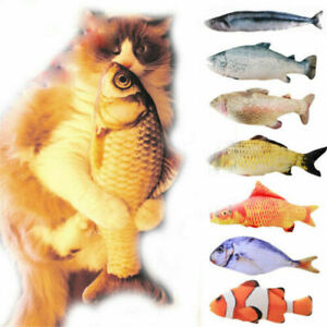 Realistic-Cat-Toy-Fish-Catnip-Mint-Stuffed-Pet-Interactive-Kitten-Play-Kicker