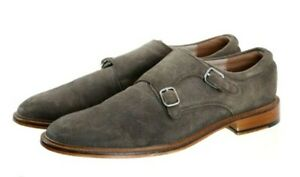 Banana Republic Men's Monk Strap Dress Shoes Size 10.5 Suede Olive Green