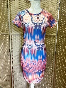 Ladies-Zara-Fitted-Dress-W-amp-B-Collection-Ink-Dress-UK-Size-Medium-BNWT