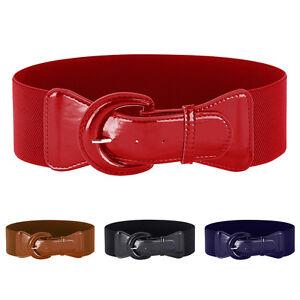 La imagen se está cargando Mujer-Cinturon-para-Dama-Elastico-Ancho -Moda-Hebilla- 81453850814f