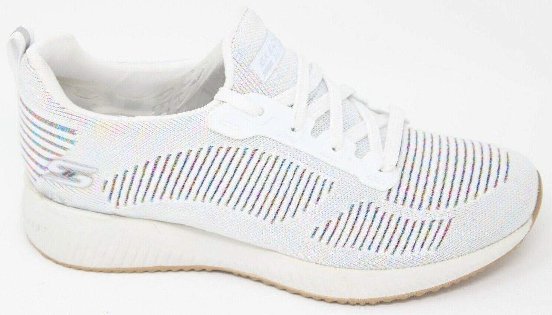 258b129562b6 Skechers Women s Bobs Sport Squad Multifaceted Sneaker 8 M White ...