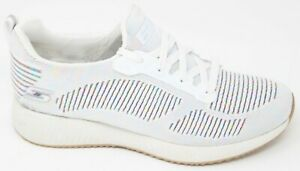 Nuovo Bobs Skechers Bianco Squad multifaceted Donna multi 31366 AxS40