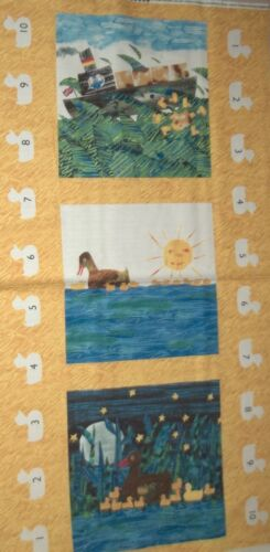 10 Little Rubber Ducks Eric Carle Yellow Panel 5694 Quilt Andover Cotton Fabric