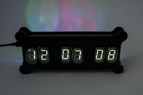 RGB Case Remote NADIA Desk Clock 6x IV-22 VFD Tubes Power NIXIE ERA!