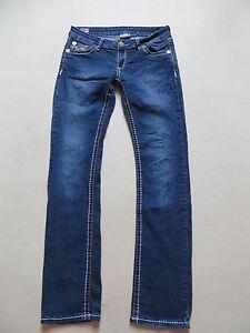 True-Religion-Slim-Straight-Jeans-Hose-W-31-L-32-Vintage-Denim-Made-in-USA