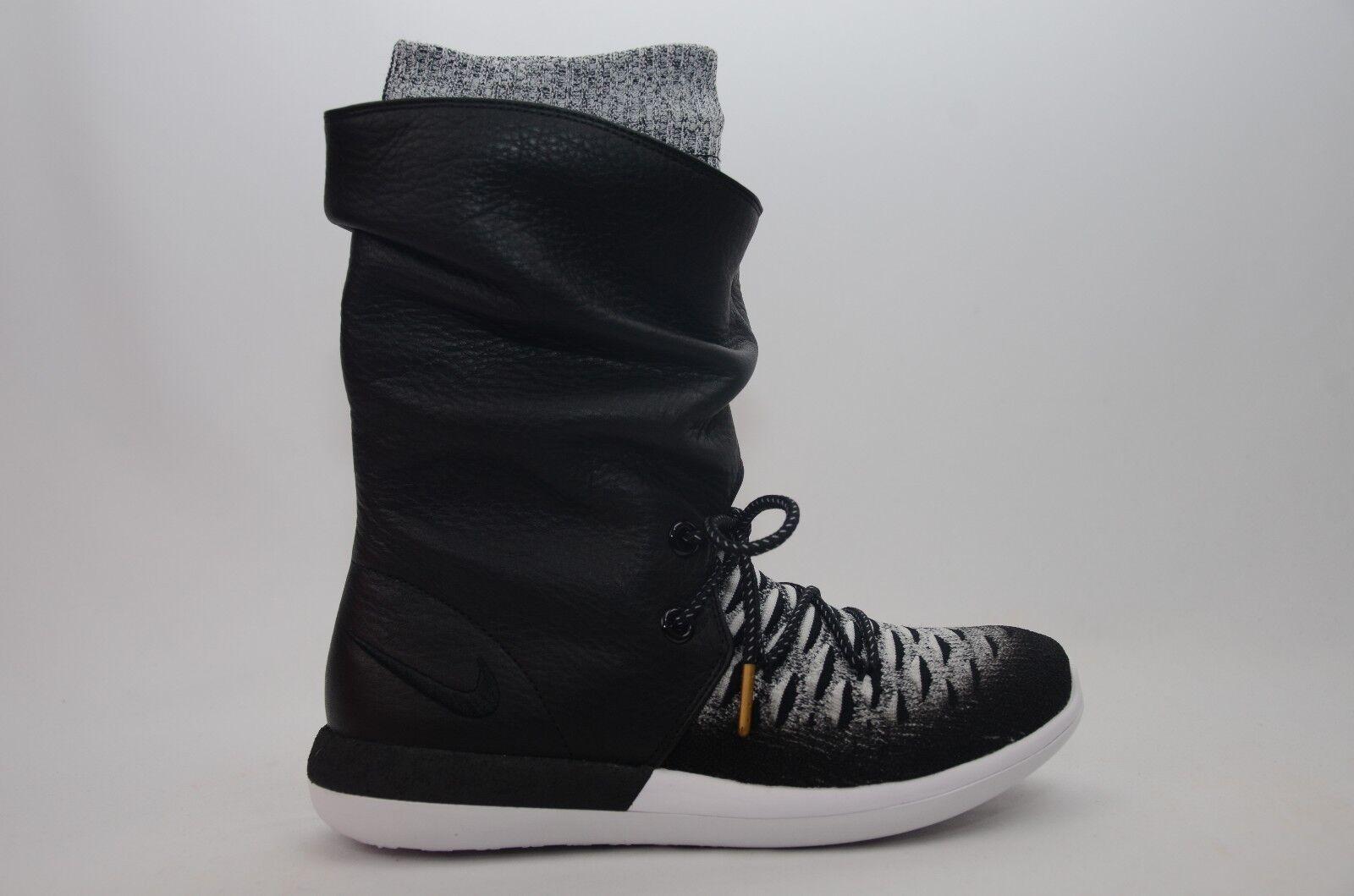 Nike Roshe Two Hi Flyknit Black/White Women's Size 7.5-12 New in Box 861708 002