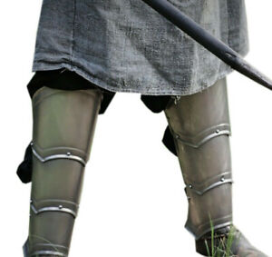 Details about Halloween Steel Greaves - Pair Of Greaves - Leg Armor - Larp  Armor - Fantasy Arm