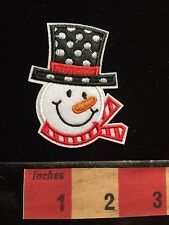 Holiday SNOWMAN SNOW MAN Patch ~ Black Costume Polka Dot Top Hat Red 67WS