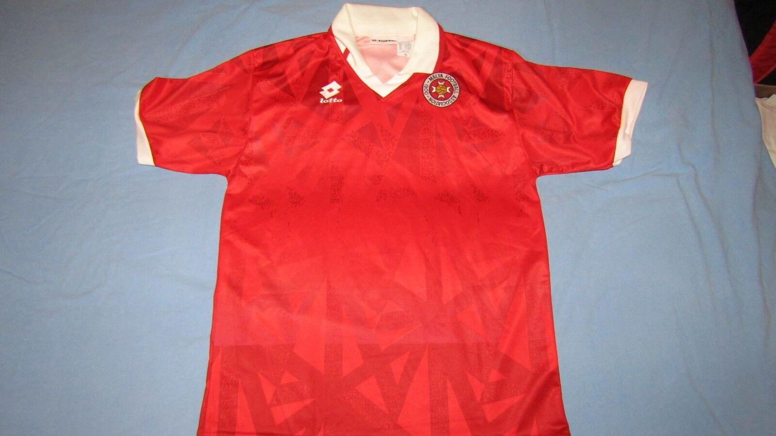 Malta Lotto, Camiseta de fútbol, XL, perfecto, muy raro, 1994-96, MATCHWORN