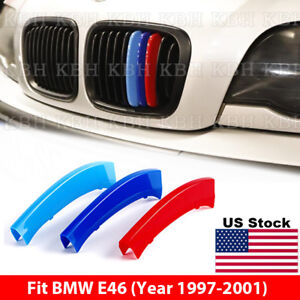 M Color Kidney Grille Grill Cover Decal Stripe Clips BMW Series - Bmw m colored kidney grille stripe decals