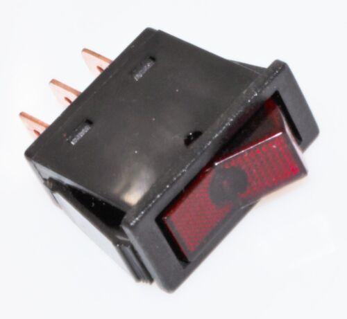 Bascule Interrupteur va et vient Interrupteur On Off 12v 16a simple dispositif de verrouillage rouge