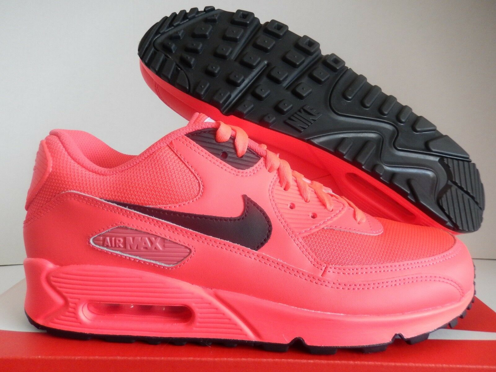 NIKE AIR MAX 90 ID INFRARED-BLACK SZ 9.5 [653533-983]