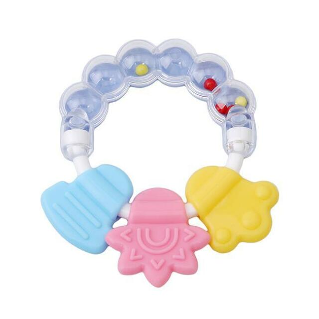 Simple Grace Design Natural Organic Floral Wooden Baby Teether