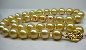 round-AAAAA-18-034-10-11mm-REAL-south-sea-NATURAL-golden-pearl-necklace-14k-Gold