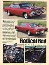 1982 Great Article Pic of Joe Nichol's 1966 Chevrolet Chevelle SS Super Sport