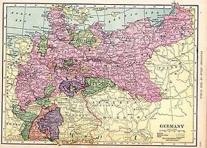 Carte Allemagne Thuringe.Carte De 1910 Allemagne Prusse Brandebourg Saxe Berlin Breslau