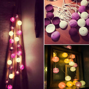 3M-20-LED-Colorful-Cotton-Ball-LED-String-Christmas-Wedding-Party-Fairy-Lights