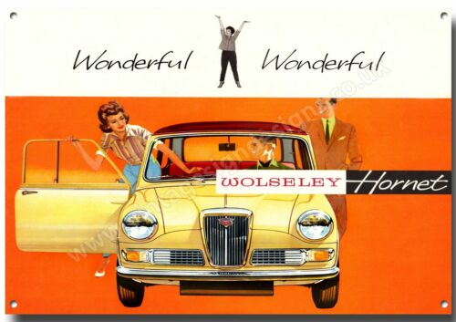 WOLSELEY HORNET METAL SIGN.CLASSIC BRITISH CARS.