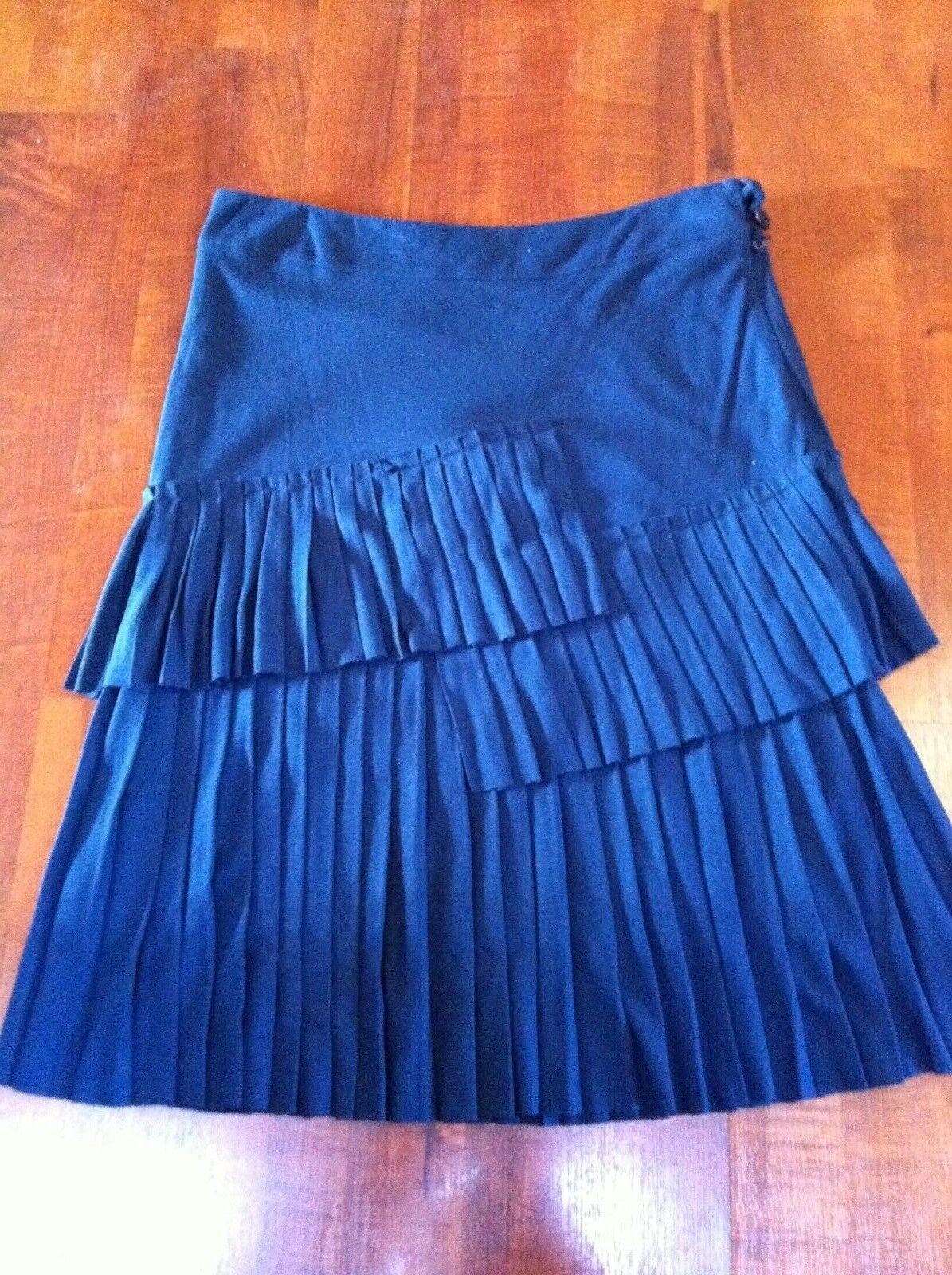 Jupe plissée à volants EROTOKRITOS blu roi Skirt  -  T. 2   38