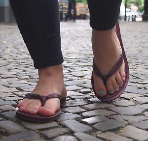 REEF-Damensandalen-CREAMY-LEATHER-plum-lila-Echtleder-Strandschlappen-NEU-SALE