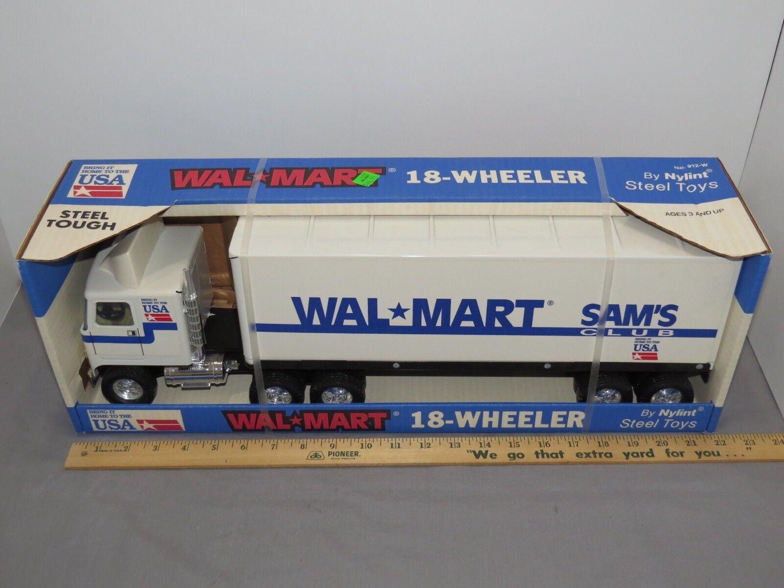 Vtg. NIB NYLINT WALMART 18 WHEELER STEEL TOY TRACTOR TRAILER NO 912-W 22  LONG
