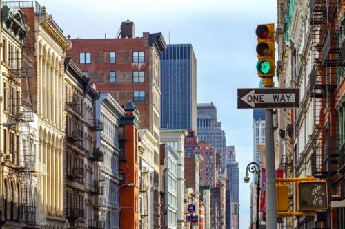 New York City Street Scene SOHO Lower Manhattan Photo inch Poster 24x36 inch