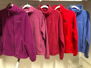 Womens-Columbia-Fleece-Jacket-Sweater-Full-Zip-Womens-Size-Large-3-colors-left