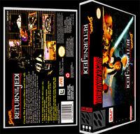 Star Wars Super Return Of The Jedi - Snes Reproduction Art Case/box No Game.