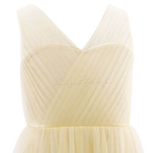 UK Child Tulle Flower Girl Dress Wedding Bridesmaid Pageant Junior Prom Dresses