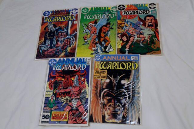 Warlord Annual #1 2 3 4 5 (1982 1983 1984 1985 1986, DC)