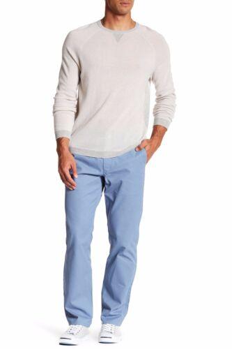 Sz 34 BONOBOS Pants Straight Leg Washed Chino 36 Jetstream Blue