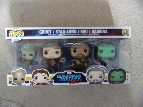 Funko Pop Lot de 4 GOTG vol 2 avec GROOT STAR-LORD EGO GAMORA Marvel