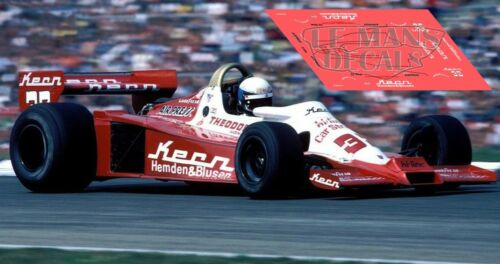 Calcas Wolf WR3 German GP 1978 32 1:32 1:43 1:24 1:18 Dutch Keke Rosberg decals