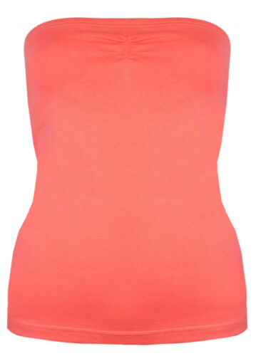 Womens Boob Tubes Ladies Sleeveless Tops Bandeau Inner Support By Brody /& Co New
