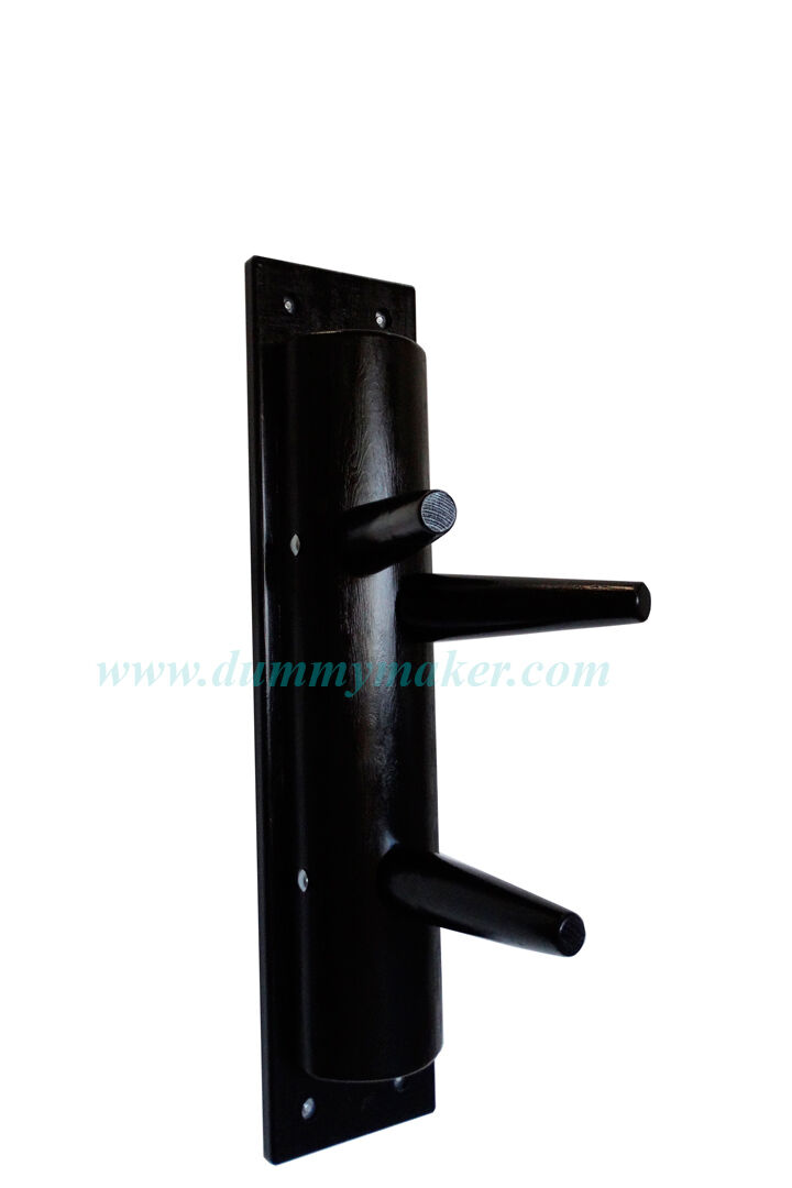 Wing Chun semicircular wooden dummy without without without leg schwarz Farbe 49388f