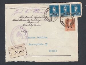 Stamps Official Website Argentina 1920's Registered Letter Front M.a.official Overprints Buenos Aires In Short Supply Latin America