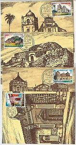 63747 - SPAIN - POSTAL HISTORY: set of 4 MAXIMUM CARD 1973 - ARCHITECTURE