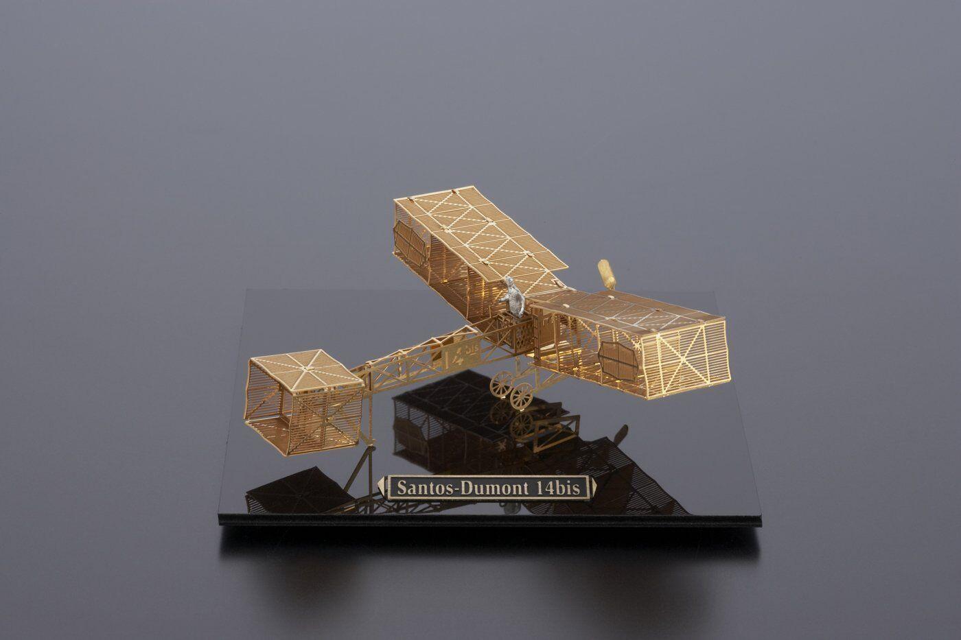 Aerobase 1 160 Santos Dumont 14bis B004 Brass Model Kit Micro wing series MIJ