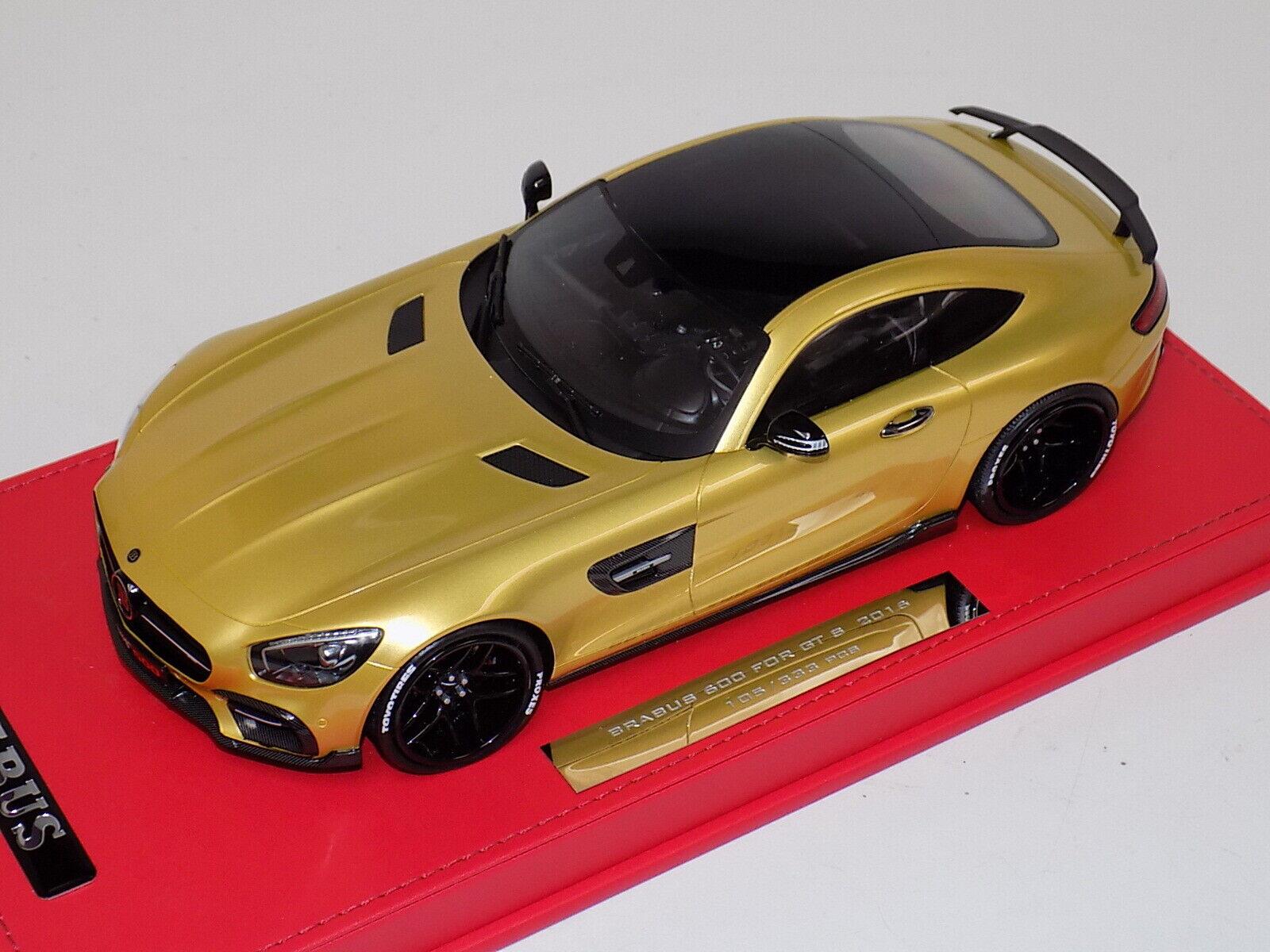 1 18 Minichamps Mercedes Brabus 600 for GT S 2016 Gold Leather base schwarz wheels